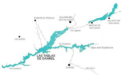 Mapa Tablas de Daimiel
