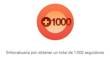 1000 seguidores