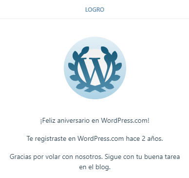 2 años en Wordpress