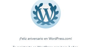 2 años en Wordpress