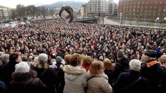 Pensionistas protestando España