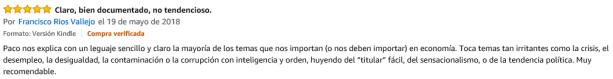 tercer comentario La Economia del futuro Amazon