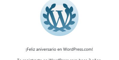 3er aniversario en Wordpress