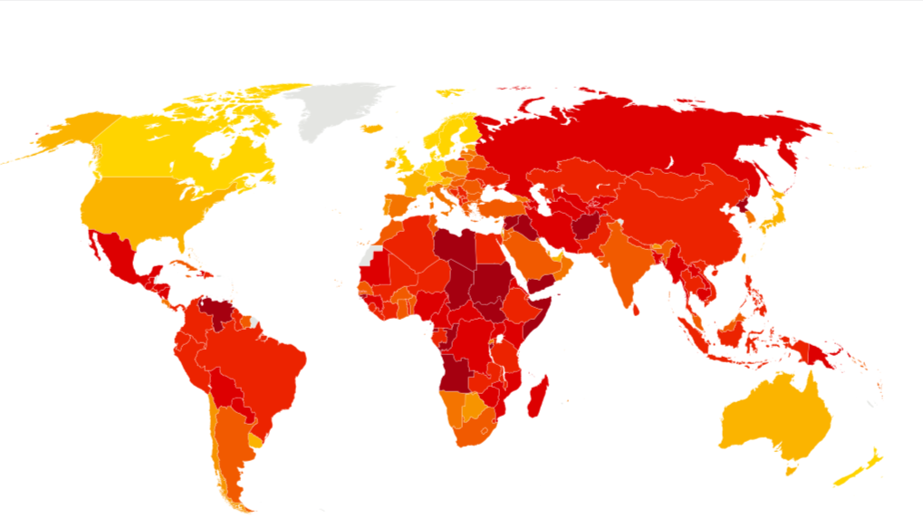 Indice Corrupción Europa