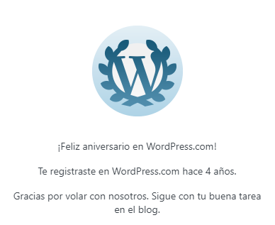 4 años del blog WP