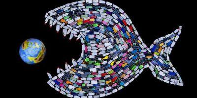 Pez de plásticos