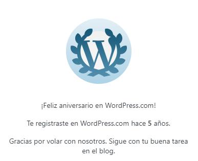5 años en WordPress